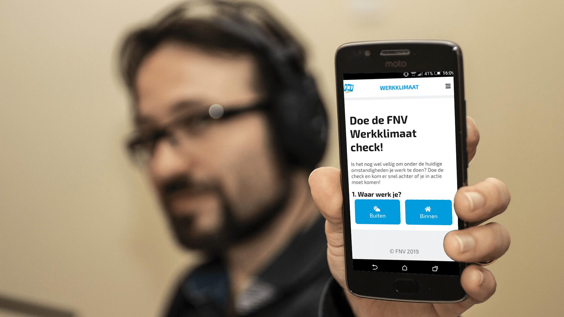 Klimaat-app FNV Werkklimaat Preventiemedewerker