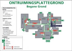 Ontruimingsplattegronden Bedrijfsnoodplan Ontruimingsplan Calamiteitenplan Vluchtroute - Noodtrap