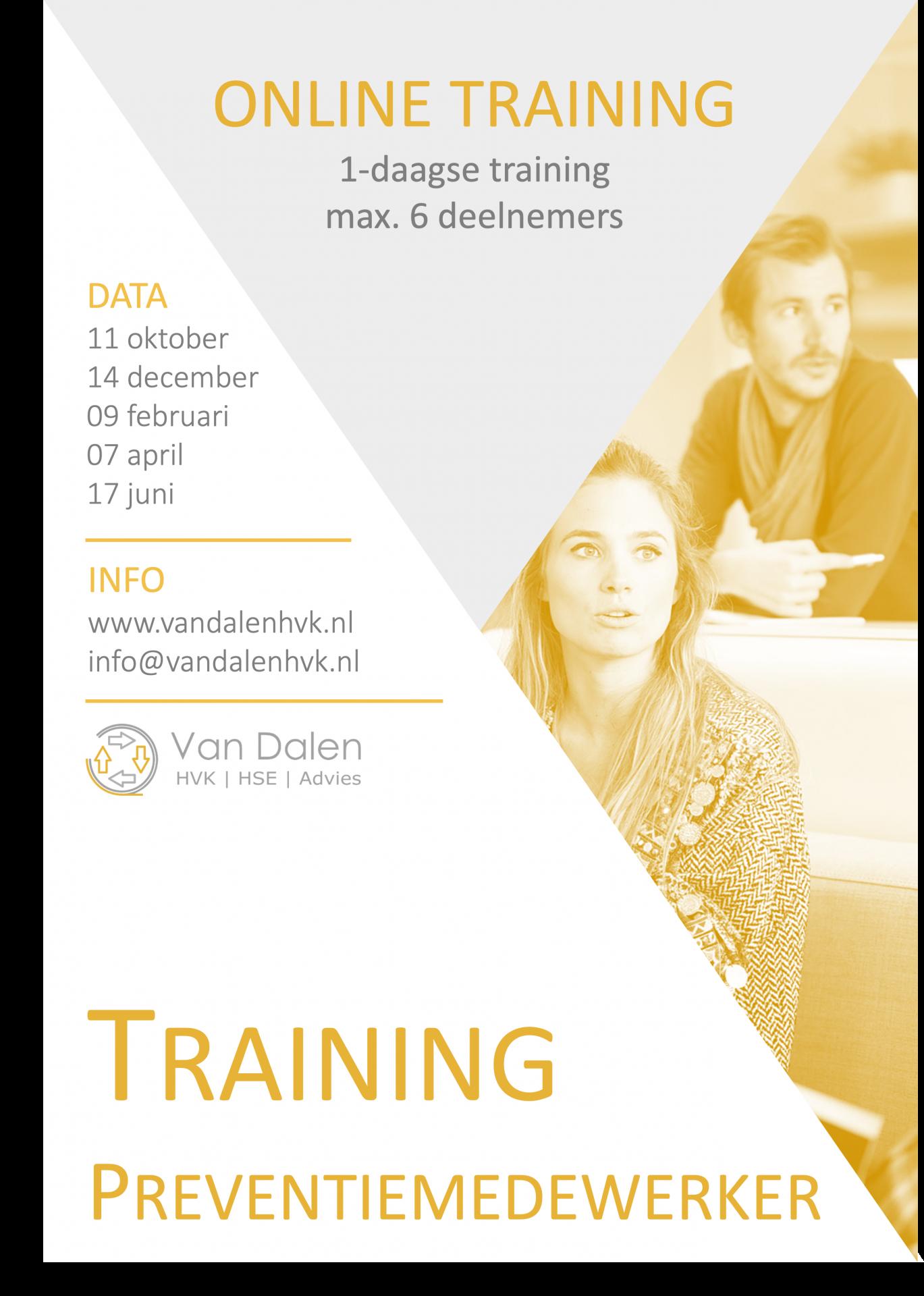 Training Preventiemedewerker Online