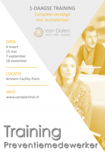 Kalender Training preventiemedewerker Arbo RI&E